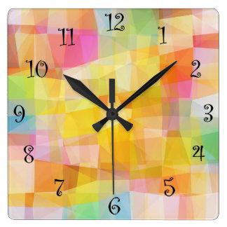 Design moderno do mosaico relógio para parede