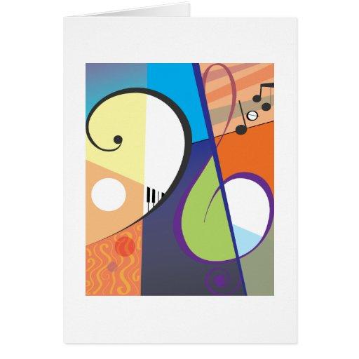 Design musical do símbolo cartões