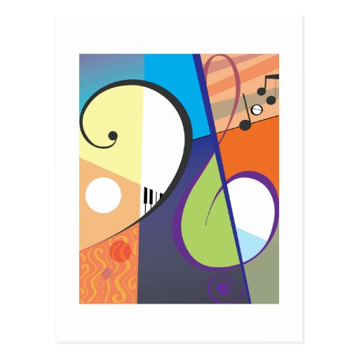 Design musical do símbolo cartoes postais