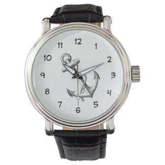 Design náutico do relógio dos homens