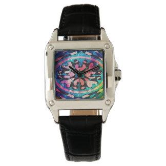 Design no relógio de pulso colorido do fundo