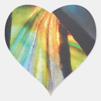 Design Opalescent do vitral Adesivo Coração