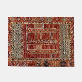 Design oriental do tapete na laranja