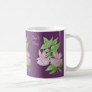 Design original da arte da aguarela das folhas caneca de café