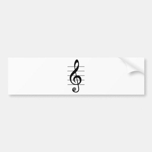 Design original da nota musical adesivos