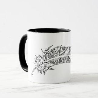 Design original da pena, caneca preto e branco