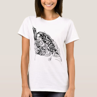 Design original da tinta do fluxo camiseta