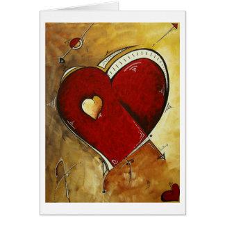 """Design original do """"batimento cardíaco"""" - MADART Cartão Comemorativo"""