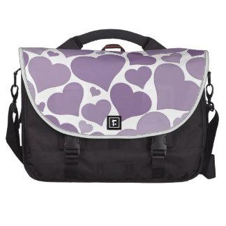 Design original do coração roxo - ame, wedding mochila para notebook