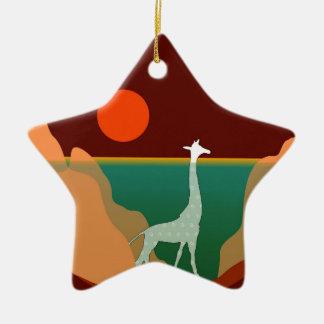 Design original do girafa ornamento de cerâmica