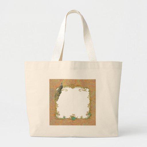 Design ornamentado da arte do pavão n Paisley Bolsas De Lona