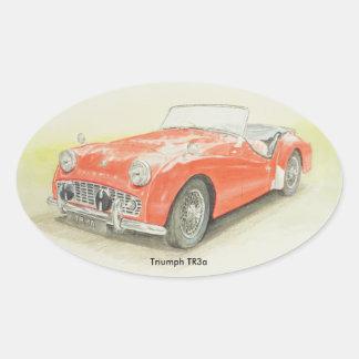 Design oval de Triumph TR3a da etiqueta