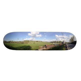 Design panorâmico personalizado do skate da foto