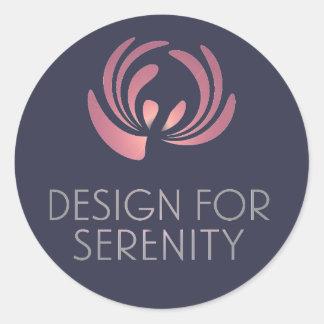 Design para a etiqueta da serenidade adesivo