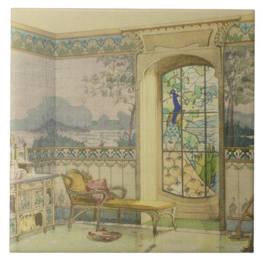 """Design para um banheiro, de """"Interieurs Modernes"""", Azulejo"""