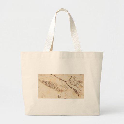 Design para um barco por Leonardo da Vinci Bolsas Para Compras