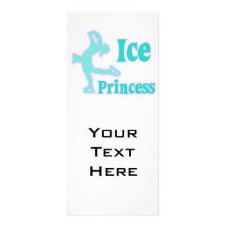 design pastel do patinagem artística da princesa d modelo de panfleto informativo