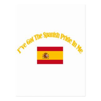 design patriótico espanhol da bandeira cartao postal
