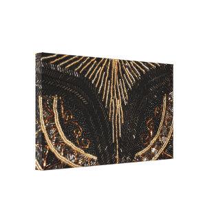 Design perlado vintage da bolsa impressão em canvas