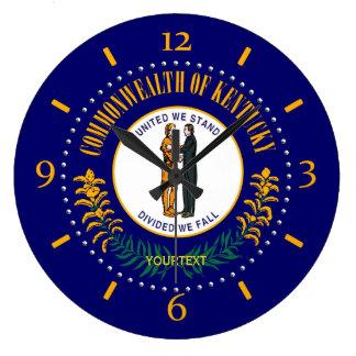 Design personalizado da bandeira do estado de relógio grande