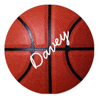 Design personalizado da foto do basquetebol convite quadrado 13.35 x 13.35cm