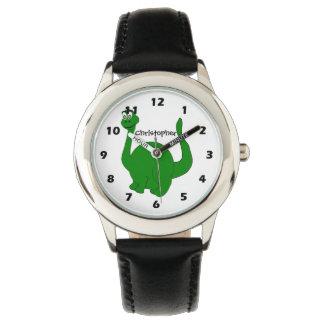 Design personalizado do dinossauro relógio