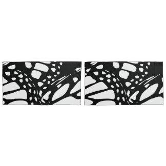 Design preto & branco da asa da borboleta de