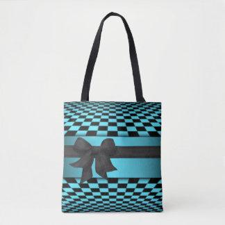 Design preto do impressão do teste padrão do bolsa tote