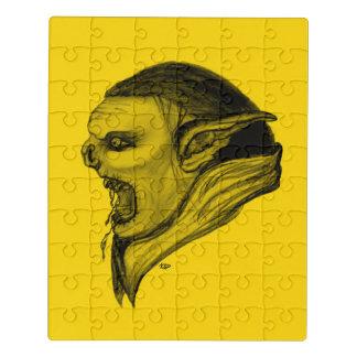 Design preto e amarelo do troll