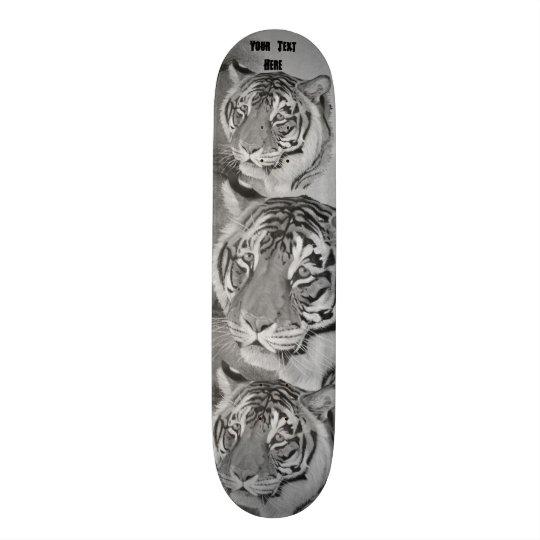 design preto e branco da arte dos animais shape de skate 19,7cm
