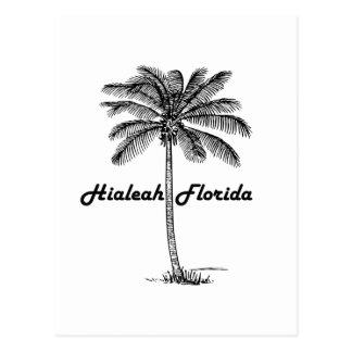 Design preto e branco de Hialeah & de palma Cartão Postal