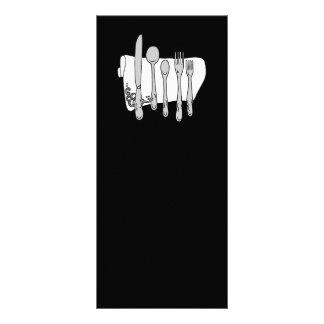Design preto e branco de Siverware 10.16 X 22.86cm Panfleto