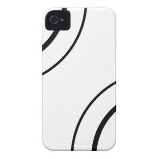 Design preto e branco | do círculo minimalista capinhas iPhone 4