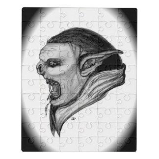 Design preto e branco do troll