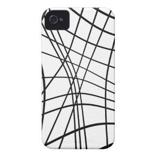 Design preto e branco elegante capa para iPhone