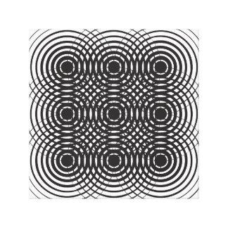 design preto e branco geométrico abstrato impressão em tela