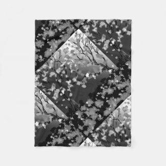 Design preto e branco geral do velo cobertor de lã