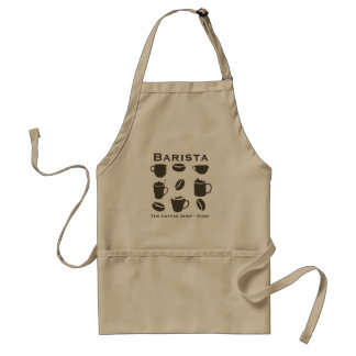 Design profissional personalizado do barista avental