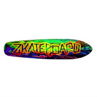 Design psicadélico da plataforma de Zkateboard Shape De Skate 19,7cm