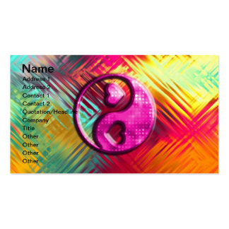 Design psicadélico do amor da paz cartao de visita