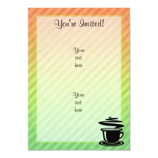 Design quente do café convite 12.7 x 17.78cm