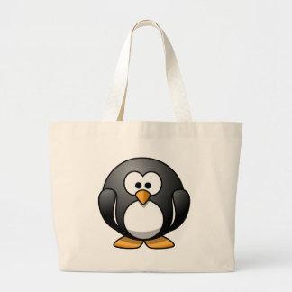 Design redondo bonito do pinguim sacola tote jumbo