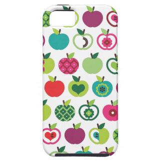 Design retro bonito do teste padrão de flor da capa tough para iPhone 5
