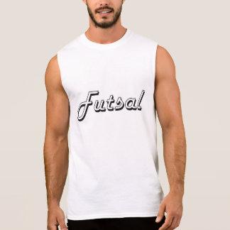 Design retro clássico de Futsal Camisetas Sem Manga