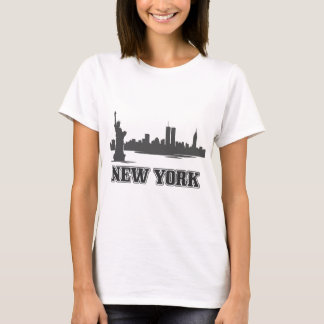 design retro do vintage da Nova Iorque ny Camiseta