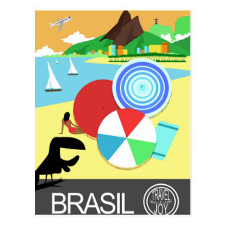 Design retro do vintage de Brasil Cartão Postal