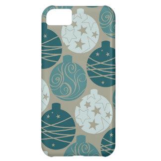 Design retro dos enfeites de natal das cinzas capa para iPhone 5C