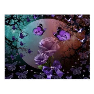 design romântico cartão postal