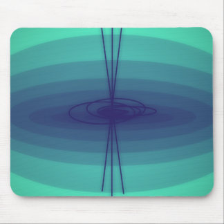 Design roxo e verde da elipse mouse pad