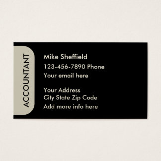 Design simples do contador cartão de visitas